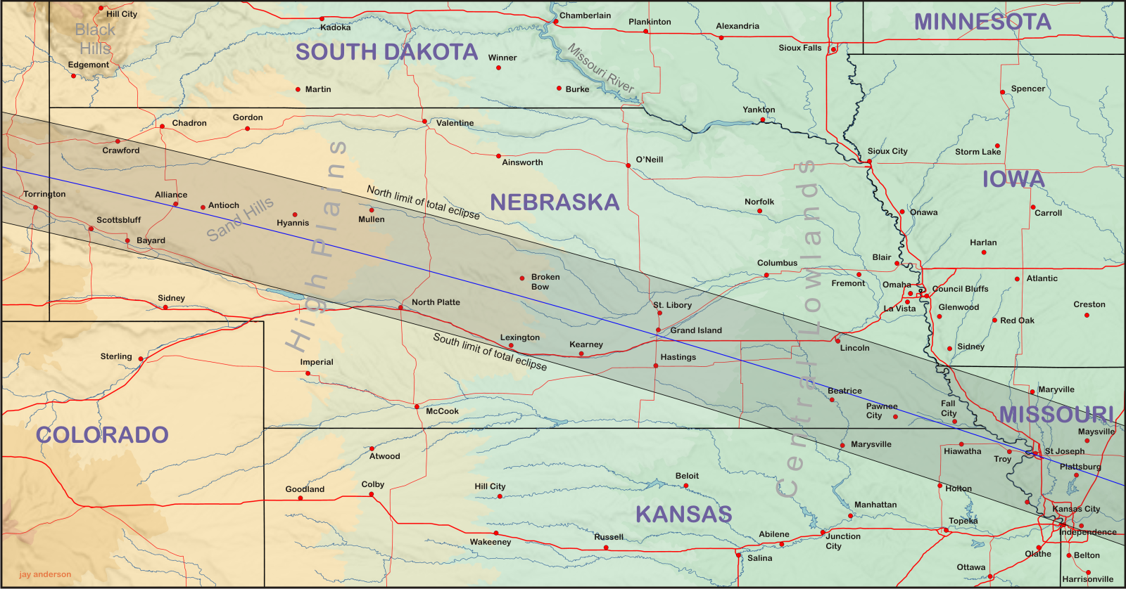 Nebraska and Kansas | Eclipsophile