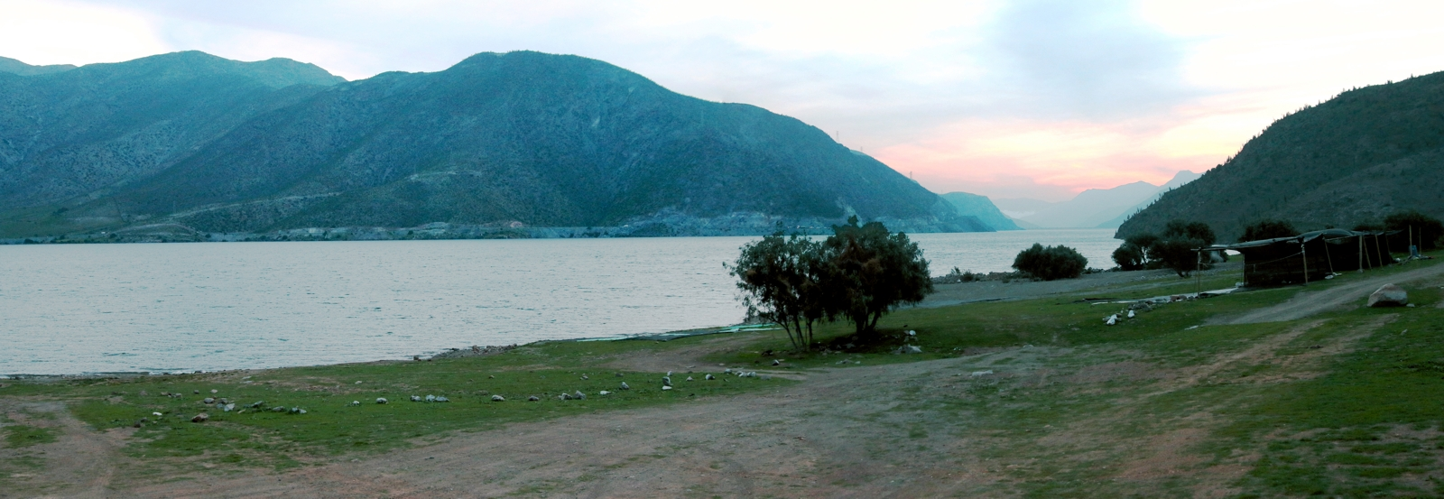 View across the Puclaro Reservoir.